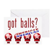 AmericanBalls_dark_crop Greeting Card