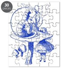 Alice and Caterpillar Blue Puzzle