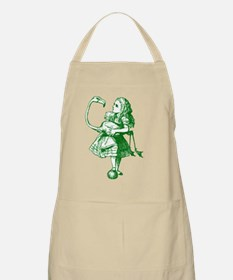 Alice and Flamingo Green Apron