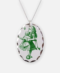 Alice and Flamingo Green Necklace