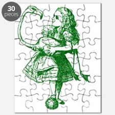 Alice and Flamingo Green Puzzle