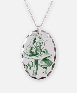 Alice and Caterpillar Green Necklace