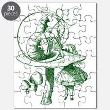 Alice and Caterpillar Green Puzzle