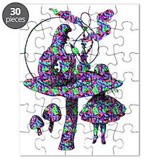 Alice and Caterpillar Psychadelic Puzzle