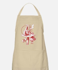 Alice and Caterpillar Red Apron