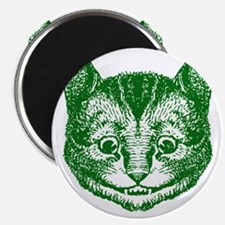 Cheshire Cat Green Magnet