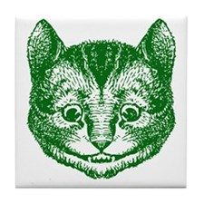 Cheshire Cat Green Tile Coaster