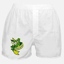 Irish rugby player leprechaun hat sha Boxer Shorts