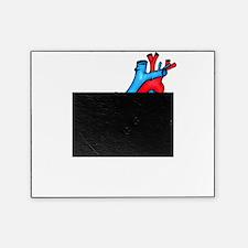 HeartAnatomyDark Picture Frame