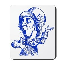 Mad Hatter Blue Mousepad
