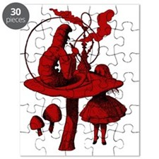 Alice and Caterpillar Red Fill Puzzle