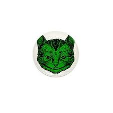 Cheshire Cat Green Fill Mini Button