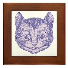 Cheshire Cat Lavender Framed Tile