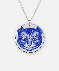 Cheshire Cat Blue Necklace