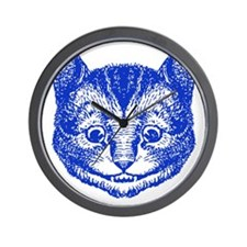 Cheshire Cat Blue Wall Clock