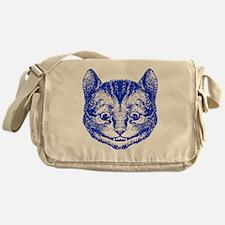 Cheshire Cat Blue Messenger Bag