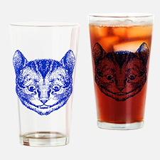 Cheshire Cat Blue Drinking Glass
