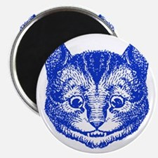Cheshire Cat Blue Magnet
