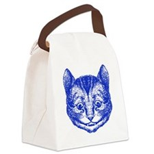 Cheshire Cat Blue Canvas Lunch Bag