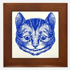 Cheshire Cat Blue Framed Tile