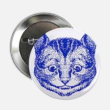 "Cheshire Cat Blue 2.25"" Button"