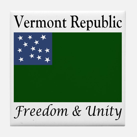 Vermont Republic Freedom & Unity Tile Coaster