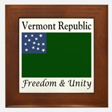 Vermont Republic Freedom & Unity Framed Tile