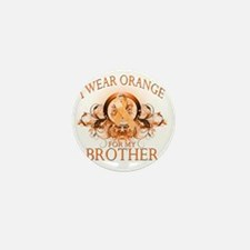 I Wear Orange for my Brother (floral) Mini Button