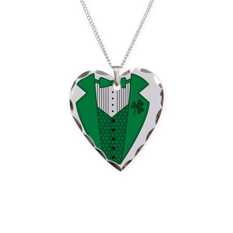 greentux3 Necklace Heart Charm