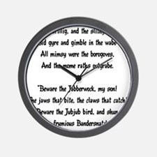 jabberwocky01 Wall Clock