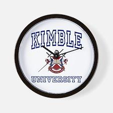 KIMBLE University Wall Clock