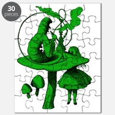 Alice and Caterpillar Green Fill Puzzle