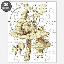 Alice and Caterpillar Sepia Puzzle