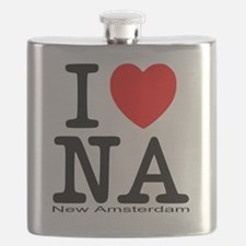 I Love New Amsterdam Flask