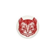 Cheshire Cat Red Mini Button