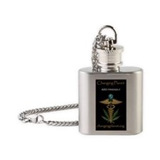 CPWordingSticker Flask Necklace