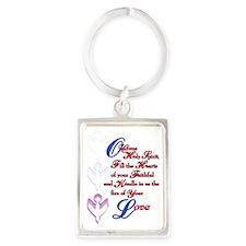 O Come Holy Spirit Portrait Keychain