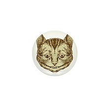 Cheshire Cat Sepia Mini Button
