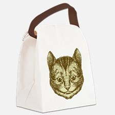 Cheshire Cat Sepia Canvas Lunch Bag