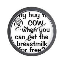 whybuythecow_breastmilkfree Wall Clock