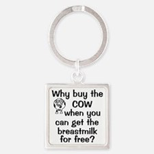 whybuythecow_breastmilkfree Square Keychain