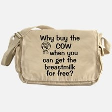 whybuythecow_breastmilkfree Messenger Bag