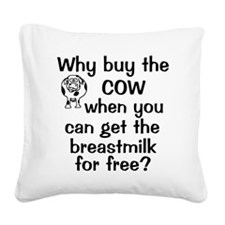 whybuythecow_breastmilkfree Square Canvas Pillow