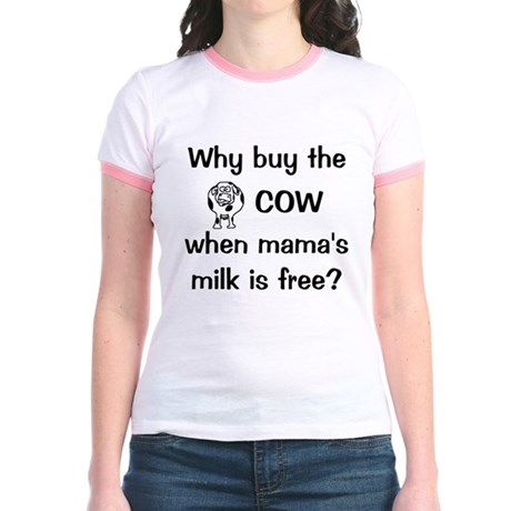 whybuythecow Jr. Ringer T-Shirt
