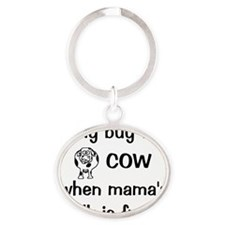 whybuythecow Oval Keychain