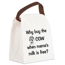 whybuythecow Canvas Lunch Bag