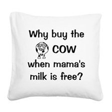 whybuythecow Square Canvas Pillow