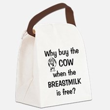 whybuythecow_breastmilkfree2 Canvas Lunch Bag