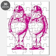 Tweedle Dee and Tweedle Dum Pink Puzzle