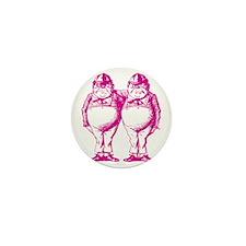 Tweedle Dee and Tweedle Dum Pink Mini Button